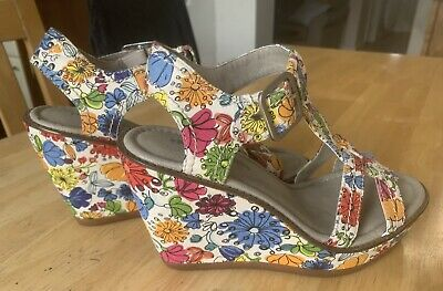 HUSH PUPPIES Floral Wedges Uk (5) • 18£
