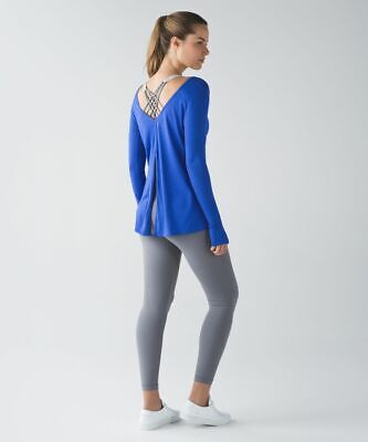 $ CDN18.67 • Buy Lululemon Zen Bender Long Sleeve, Harbor Blue, Size 6