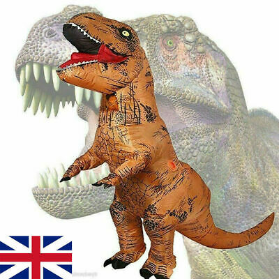 Adult Halloween T-REX Inflatable Dinosaur Costume Jurassic Dress Blowup OutfitAd • 30.99£