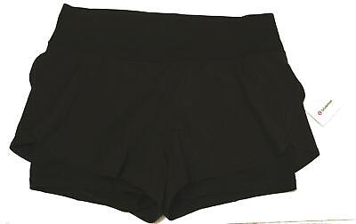 $ CDN72.49 • Buy Lululemon Women's 3  Inseam Stop Drop And Squat Shorts FR7 Black Size 12 NWT