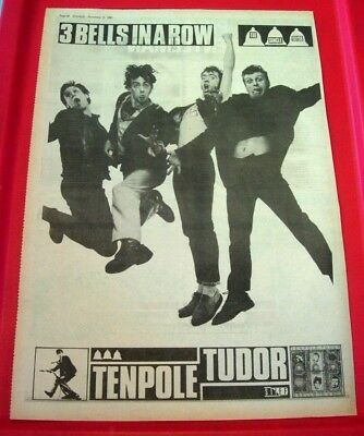 Tenpole Tudor 3 Bells In A Row Vintage ORIG 1980 Press/Mag ADVERT Poster-Size • 2.99£
