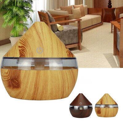 AU19.82 • Buy LED USB Wood Grain Air Humidifier Aroma Essential Oil Diffuser Purifier HE
