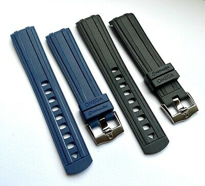 2Omm Rubber Strap BLACK Watch Strap For Omega Seamaster 300. • 34£