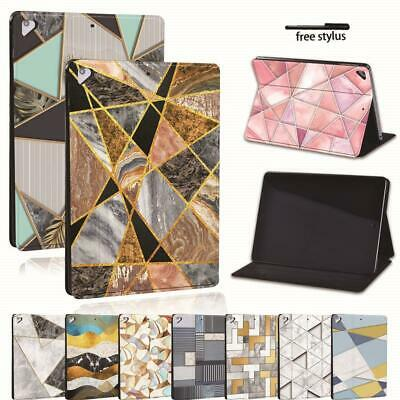 For Apple IPad 8 10.2  2020 (8th Generation) -Geometric Leather Stand Cover Case • 8.99£
