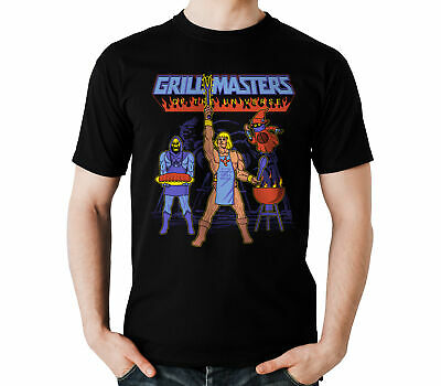 $17.99 • Buy Masters Of The Universe He-man Skeletor Grill BBQ Party Black T-Shirt S-6XL