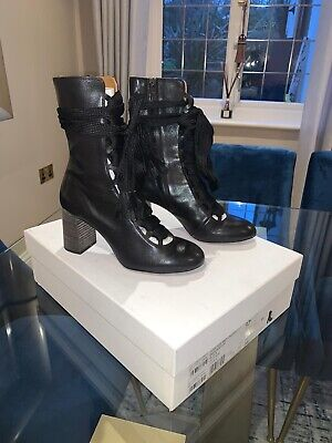 Chloe Harper Mid Lace-up Black Boots  37 • 239£