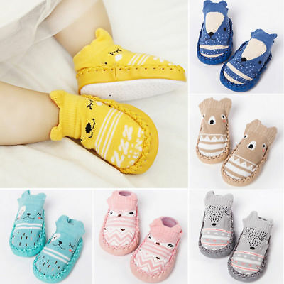 Baby Kids Cartoon Shoes Toddler Anti-slip Socks Shoes Slipper Socks Boots UK • 4.89£