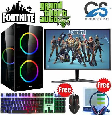 Fast Gaming PC Computer Bundle Intel Quad Core I7 16GB 1TB Win 10 GTX 1650 • 499.99£