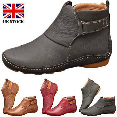 Women Winter Arch Support Ankle Boots Multi Colors Flat Heel Comfy Casual Shoes • 12.06£