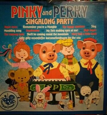 RARE Pinky And Perky Singalong Party Vinyl Record  • 4.50£