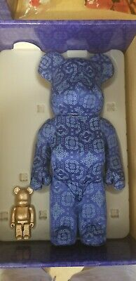 $600 • Buy Used BEARBRICK X CLOT X NIKE 100% & 400% Set Blue Silk BE@RBRICK