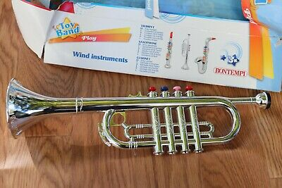 Silver Trumpet Toys For Kids Marching Band Musical Instrument 3 To 7 Yrs Old  • 21.70£