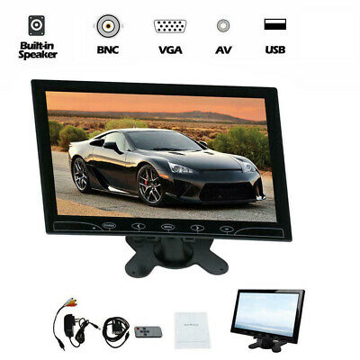 10  CCTV LCD Monitor PC Screen HDMI+VGA+AV Video Display Speaker Input Security • 41.69£