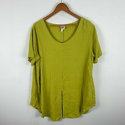 AU23.95 • Buy Zulu & Zephyr Womens Dress Top Size 10 Green Short Sleeve Round Neck Oversized