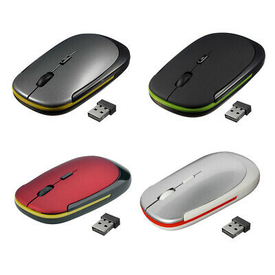 AU8.68 • Buy Ultra-Thin 2.4GHz Wireless 1600 DPI Adjustable Rechargeable Optical Mouse  #JT1