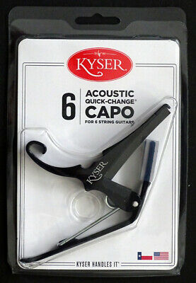 $ CDN26.12 • Buy New! Kyser KG6BA Quick Change 6-STRING ACOUSTIC GUITAR CAPO Black / MADE IN USA