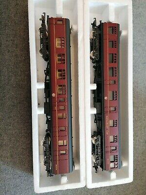 2 X OO Gauge Lima BR / LMS Maroon Mk.1 Coaches .  Good Condition. • 10£