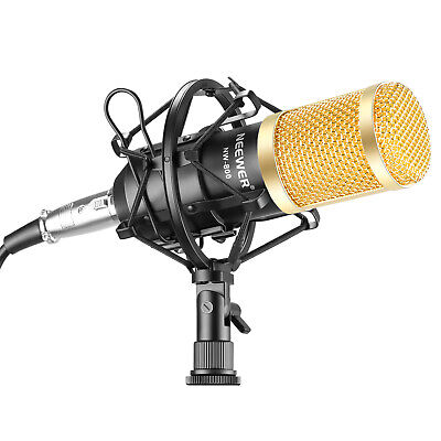 AU26.99 • Buy Neewer NW-800 Pro Studio Broadcasting Microphone Kit With Foam Shock Mount Cable