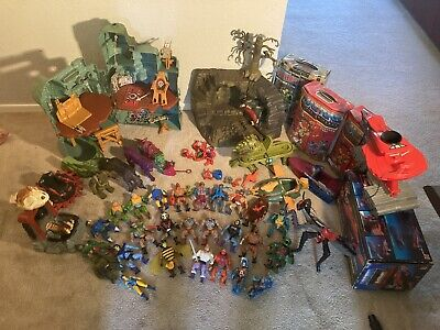 $265 • Buy Huge Lot Vintage 80s MOTU Masters Of The Universe He-Man Figures And More
