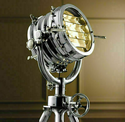 AU547.89 • Buy Industrial Nautical LED Spotlight With Tripod Floor Lamp Office And Home Decor