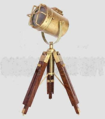 AU109.84 • Buy Vintage Spot Light Nautical Floor Lamp For Bedroom Searchlight W/Tripod Stand