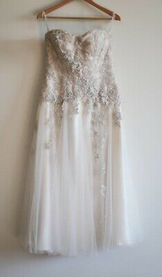 AU850 • Buy Wedding Dress Champagne Joseph Sayadi Couture Size 14-16. Wedding/formal Gown