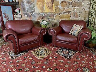 AU815 • Buy Pair Of Stunning Vintage McCanns Chesterfield Leather Armchairs~Lounge Chair