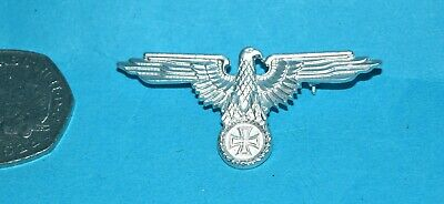German Eagle Lapel Badge With Rear Pin Fastening. • 2.99£