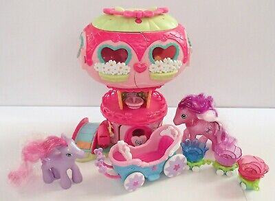 My Little Pony Ponyville Pinkie Pie Balloon Carriage Petal Parade Train Bundle • 19.99£