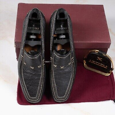 $ CDN34.74 • Buy NWB $1350 ARTIOLI Penny Loafer Shoes Black 11.5UK/12.5US/45.5EU Made In Italy