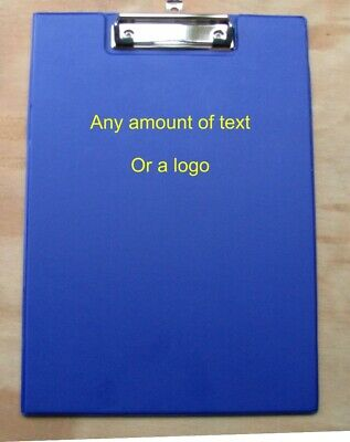 A4 Fold Over Clipboard Blue, Option To Personalise Text Or Logo • 16.99£