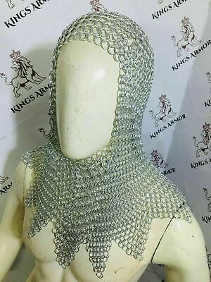 $55.22 • Buy HALLOWEEN Chainmail 9MM Butted Hood Anodized Medieval Costume SCA LARP