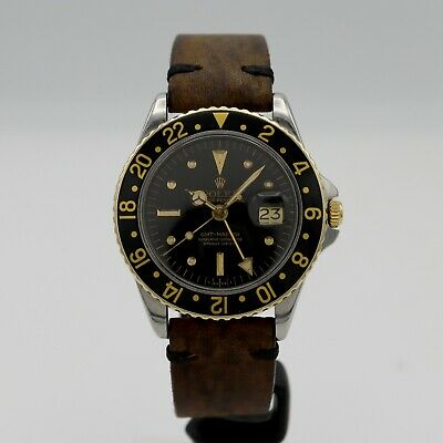 $ CDN13875.23 • Buy Rolex GMT-Master Men's Black Nipple Dial / PCG Ref. 1675