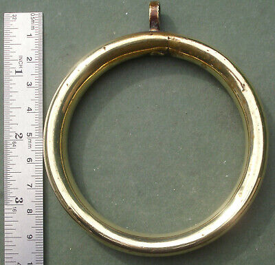 Old Brass Ring, 3  Dia, Bell Pull?, Toilet Chain?, Free P&P • 14£