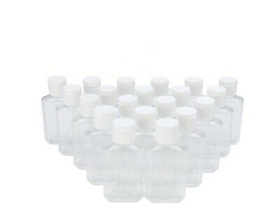 $ CDN15.82 • Buy 20 Pack - 2oz Plastic Round Squeeze Bottles W/Flip Tops Brand New Ships From USA