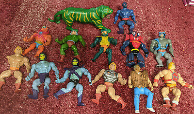 $49.99 • Buy 1980s He Man And The Masters Of The Universe Lot Set Of 13 Figures Bundle