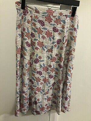 AU45 • Buy TIGERLILY Front Split Patterned Skirt 14-as New