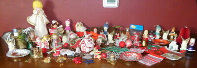 $ CDN60 • Buy Large Lot Vintage Christmas Ornaments & Decorations Elf Stocking Santa Angel