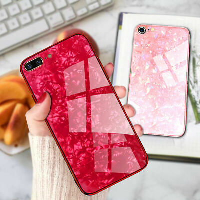 For Phone 11 Pro MAX XR XS 7 8 Plus Case Tempered Glass Shockproof Marble Cover • 3.49£