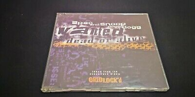 2Pac And Snoop Doggy Dogg ‎– Wanted Dead Or Alive CD Single • 2.40£