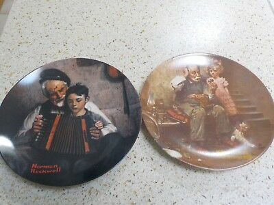 $ CDN9.32 • Buy Set Of Two (2) Knowles Norman Rockwell Plates 1978 And 1981