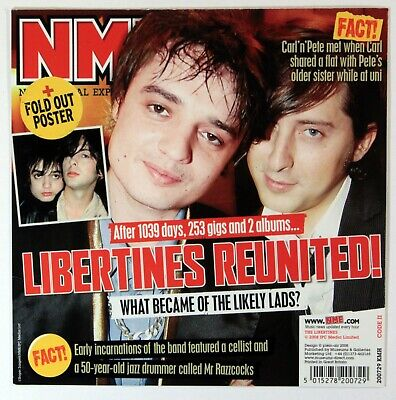The Libertines - NME Card With Fold-Out Poster (32cm X 32cm) New • 3.99£