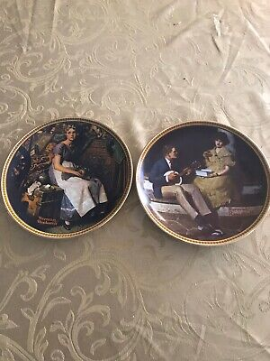 $ CDN16 • Buy NORMAN ROCKWELL Rediscovered Women Series Set Of Two Knowles Collector Plates
