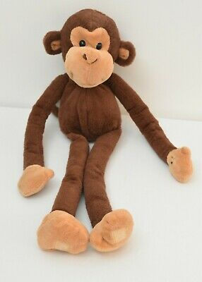 Keel Toys Dangling Brown Monkey Sticky Hands Plush Soft Toy ~ Cuddly Teddy  • 12£