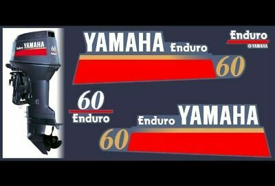 AU118.04 • Buy Yamaha Enduro 60 Hp Outboard Motor - Replacement Decals Cover - Graphics Kit