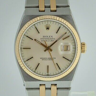 $ CDN6660.33 • Buy Rolex Datejust Oysterquartz Ref 17013, Men's, Stainless Steel And 18K Gold, 1986