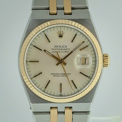 $ CDN6674.82 • Buy Rolex Datejust Oysterquartz Ref 17013, Men's, Stainless Steel And 18K Gold, 1986
