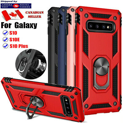 $ CDN8.49 • Buy For Samsung Galaxy S10 S9 S10e S10+ Plus Shockproof Magnetic Ring Case Cover