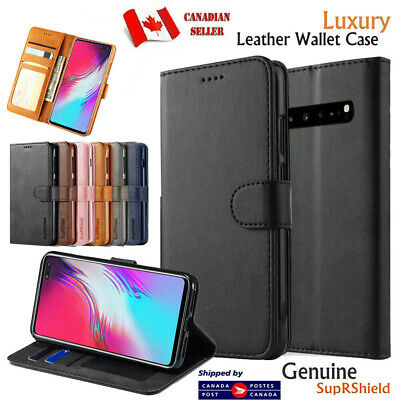 $ CDN8.99 • Buy For Samsung Galaxy S8 S9 S10 +Plus S10e Wallet Case Leather Magnetic Flip Cover