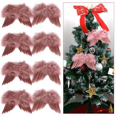 Vintage Feather Hanging Angel Wings Christmas Tree Wedding Ornaments Decorations • 2.28£